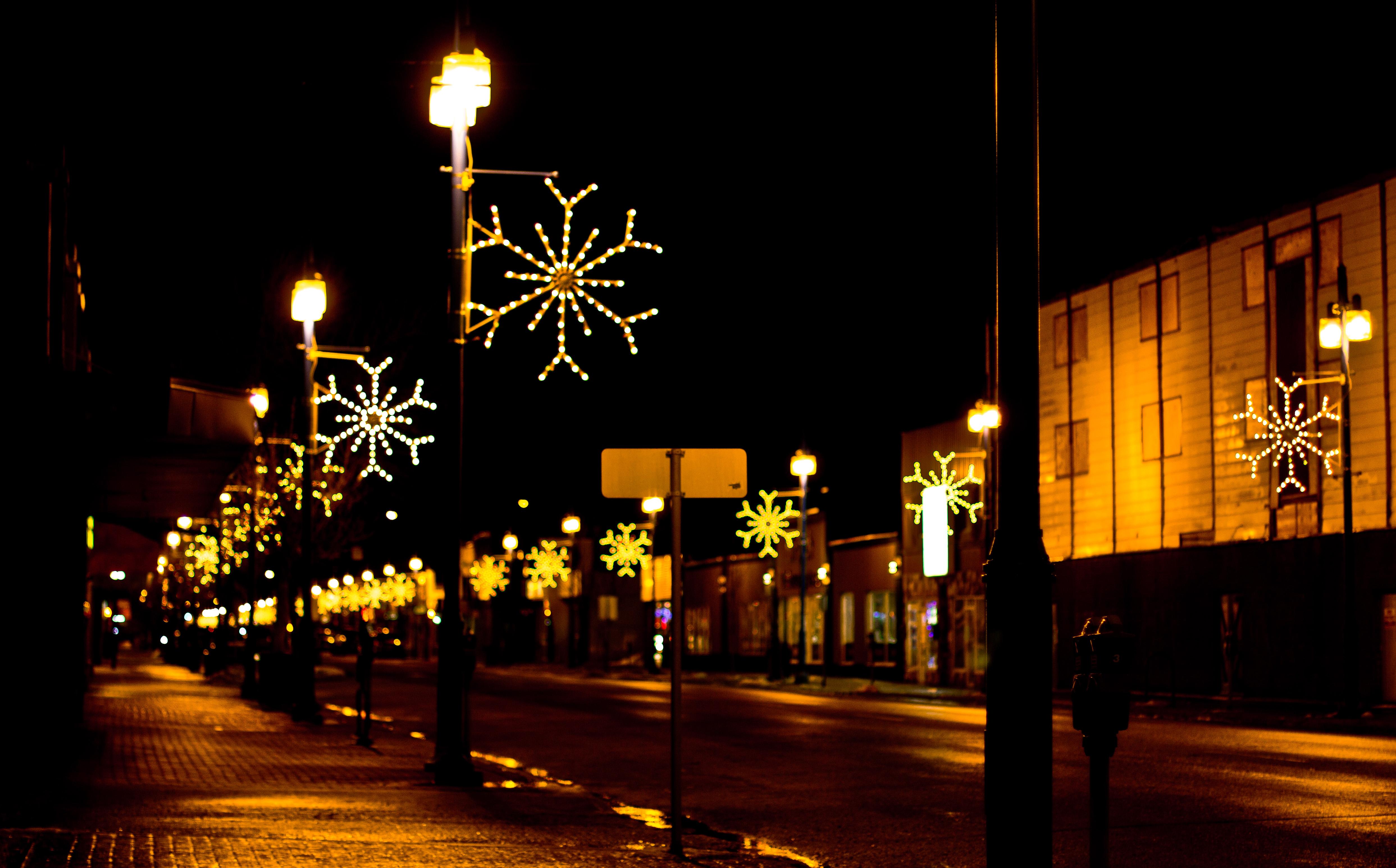 christmas lights down grande prairies main street