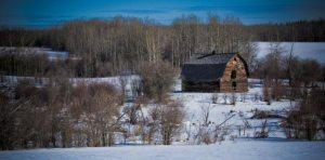Lone Barn - Alberta Highway 737, near Figure Eight Lake