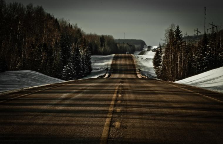 Alberta Highway 35 near Twin Lakes, Alberta