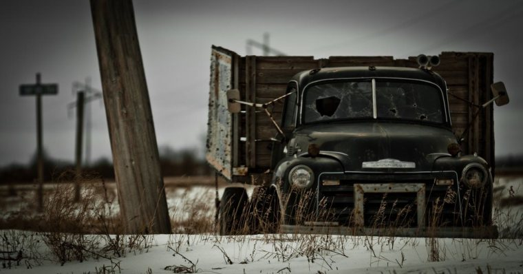 Fifties Grain Truck - South Side toward Nampa, Peace River, Alberta