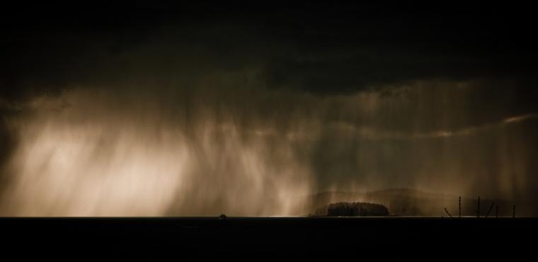 Veils of Rain, Elliot Bay - Seattle, Washington