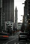 Early Morning City Street - Seattle, Washington