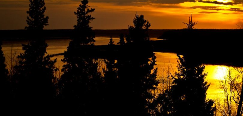 Toward the Peace River - Fort Vermilion, Alberta