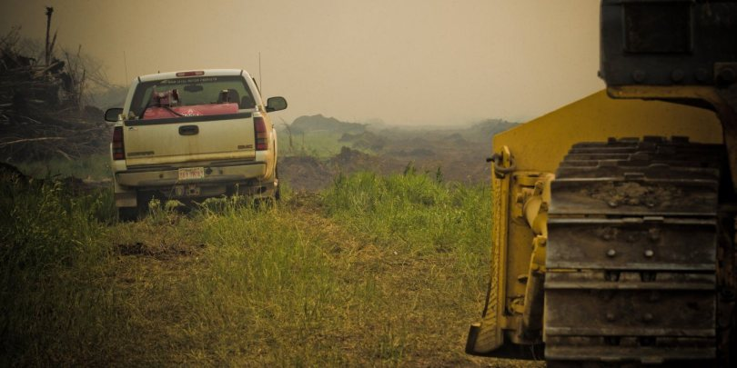 Looking On - Wilson Prairie Wildfire - La Crete, Alberta