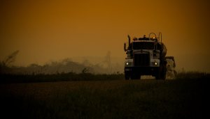 Keeping Dust Down - Wilson Prairie Road - La Crete, Alberta
