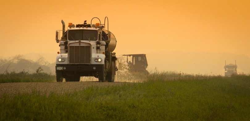 2 Keeping Dust Down - Wilson Prairie Road - La Crete, Alberta