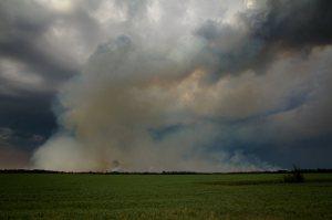 2 Wilson Prairie Fire (from the South) - La Crete, Alberta