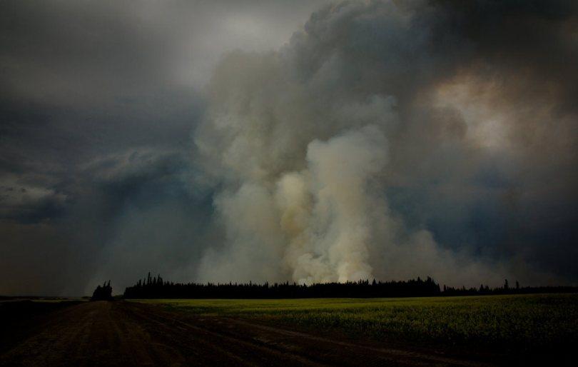 3 Wilson Prairie Fire (from the South) - La Crete, Alberta