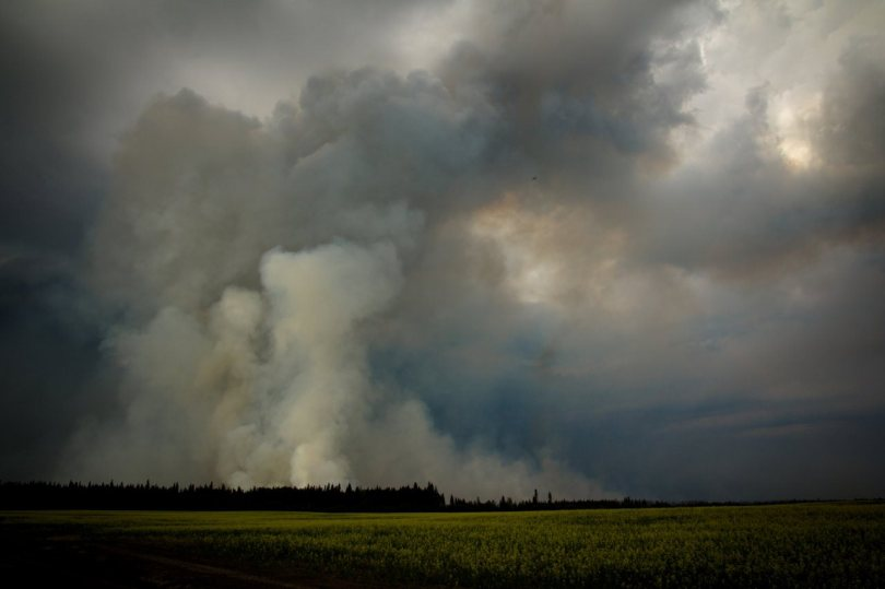 4 Wilson Prairie Fire (from the South) - La Crete, Alberta
