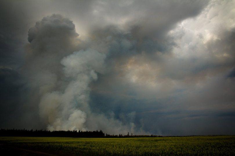 5 Wilson Prairie Fire (from the South) - La Crete, Alberta