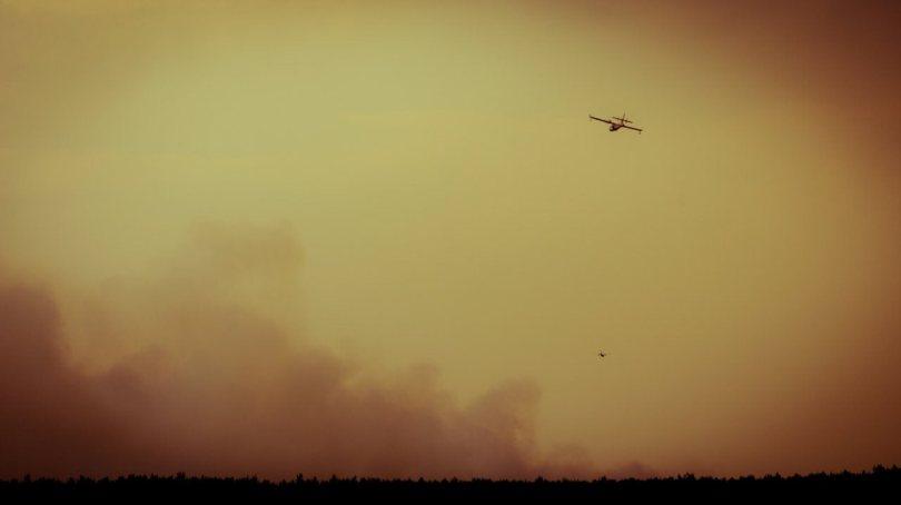3 Water Bomber - Wilson Prairie Fire, La Crete, Alberta