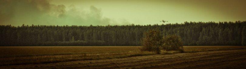 7 Water Bomber - Wilson Prairie Fire, La Crete, Alberta