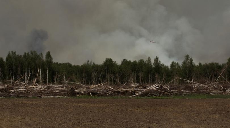 Water Slinging 2 - Wilson Prairie Fire, La Crete, Alberta