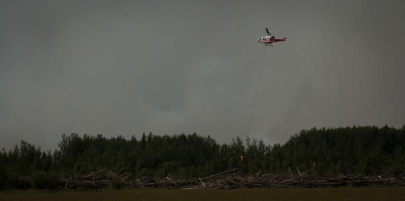 Water Slinging 6 - Wilson Prairie Fire, La Crete, Alberta