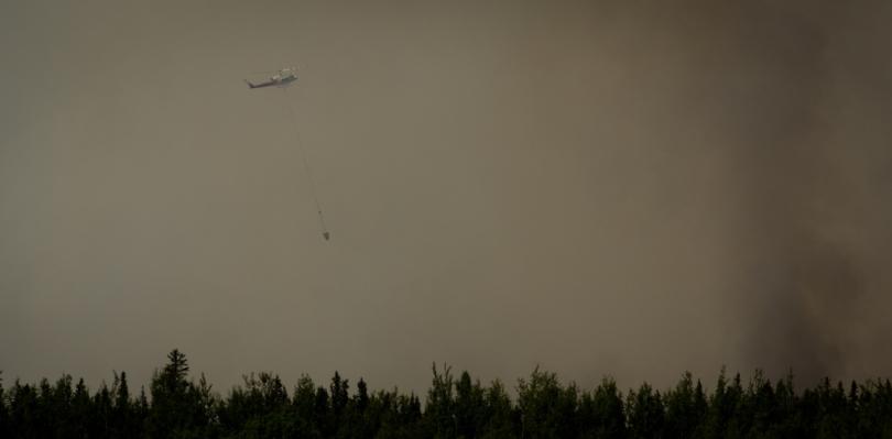 Water Slinging 15 - Wilson Prairie Fire, La Crete, Alberta