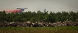 Air Tanker Water Bombing 2 - Wilson Prairie Fire, La Crete, Alberta