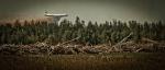 Air Tanker Water Bombing 3 - Wilson Prairie Fire, La Crete, Alberta