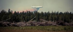 Air Tanker Water Bombing 4 - Wilson Prairie Fire, La Crete, Alberta