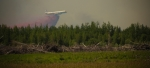 Air Tanker Water Bombing 5 - Wilson Prairie Fire, La Crete, Alberta