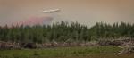 Air Tanker Water Bombing 6 - Wilson Prairie Fire, La Crete, Alberta