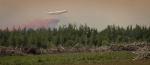 Air Tanker Water Bombing 6 - Wilson Prairie Fire, La Crete, Alberta
