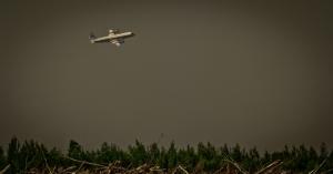 Air Tanker Water Bombing 8 - Wilson Prairie Fire, La Crete, Alberta