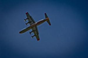 Air Tanker Water Bombing 12 - Wilson Prairie Fire, La Crete, Alberta