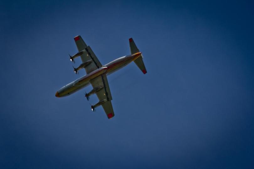Air Tanker Water Bombing 12 - Wilson Prairie Fire, La Crete, Alberta