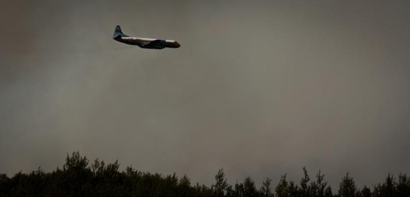 Air Tanker Water Bombing 15 - Wilson Prairie Fire, La Crete, Alberta