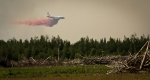 Air Tanker Water Bombing 16 - Wilson Prairie Fire, La Crete, Alberta