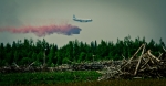 Air Tanker Water Bombing 17 - Wilson Prairie Fire, La Crete, Alberta