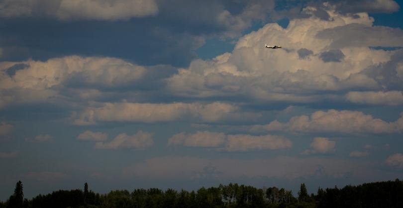 Air Tanker Water Bombing 19 - Wilson Prairie Fire, La Crete, Alberta