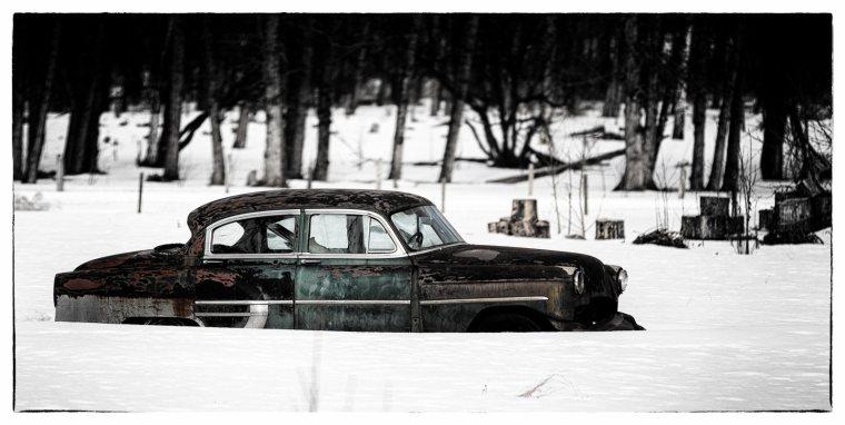 Car Between Fox Creek and