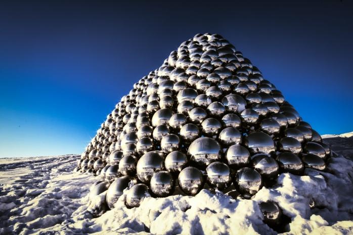 Metallic Spheres Sculpture - Edmonton, Alberta 1