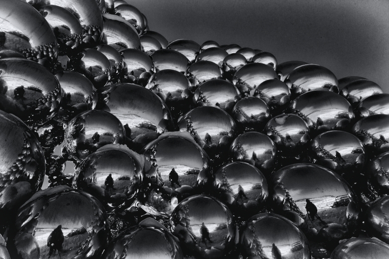 Metallic Spheres Sculpture - Edmonton, Alberta 4