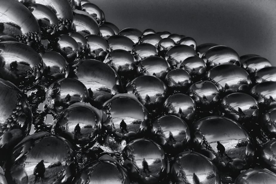 Metallic Spheres Sculpture - Edmonton, Alberta 4