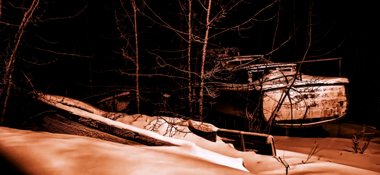 Boats in Woods - Hay River 1