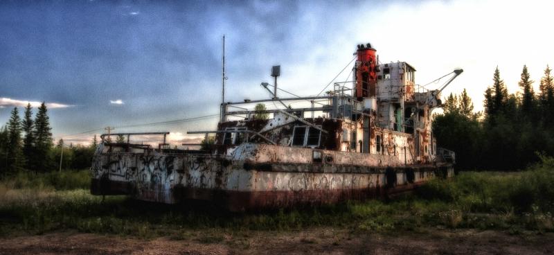 Derelict Vessel - Hay River, NWT - 1