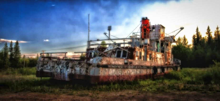 Derelict Vessel - Hay River, NWT - 2