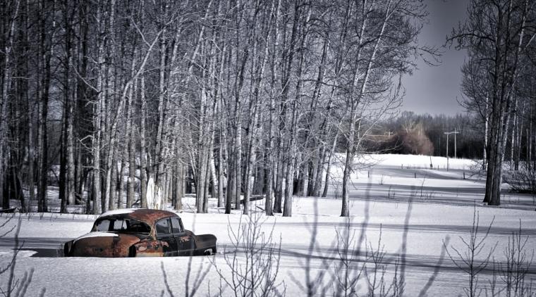 Sedan Along Path - Valleyview, Alberta 1