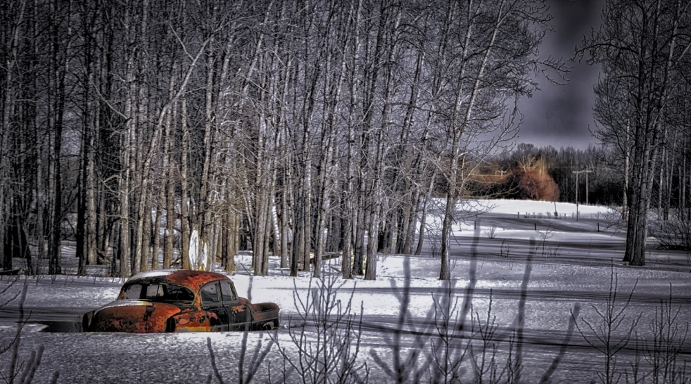 Sedan Along Path - Valleyview, Alberta 2