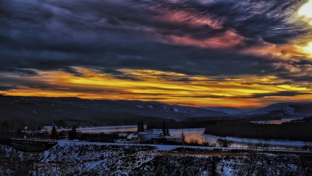 Sunset - Dusk - Peace River, Alberta