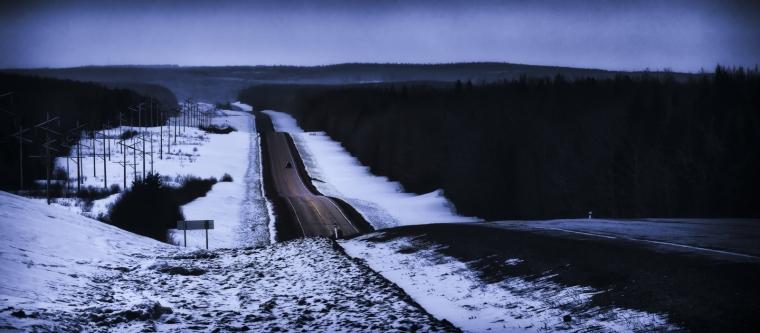Aways Down the Twin Lakes Hill - Twin Lakes, Alberta