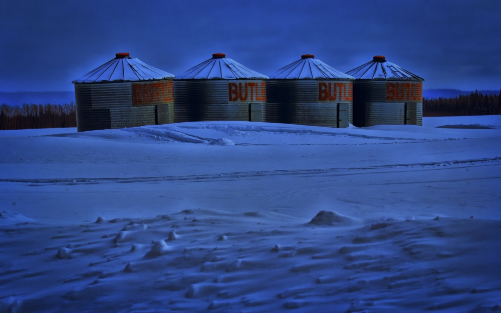 Butler Grain Bins - Blue Hills, Alberta