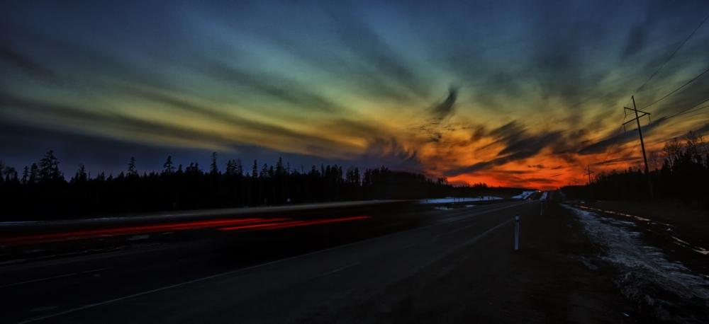 Sunset - Whitecourt to Valleyview, Alberta