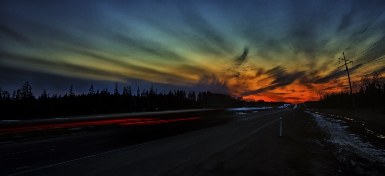 Sunset - Whitecourt to Valleyview, Alberta