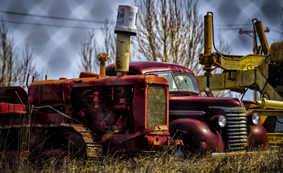 Bull Dozer and GMC Cab and Chassis