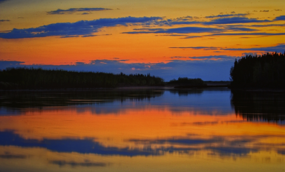 Peace River Sunset - Fort Vermilion, Alberta 1