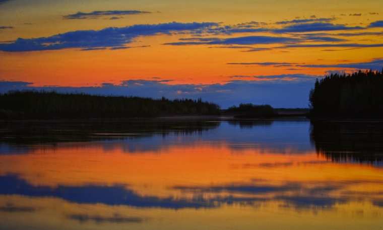 Peace River Sunset - Fort Vermilion, Alberta 1