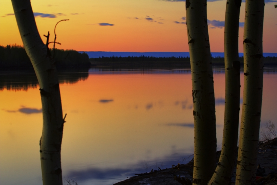 Peace River Sunset - Fort Vermilion, Alberta 2